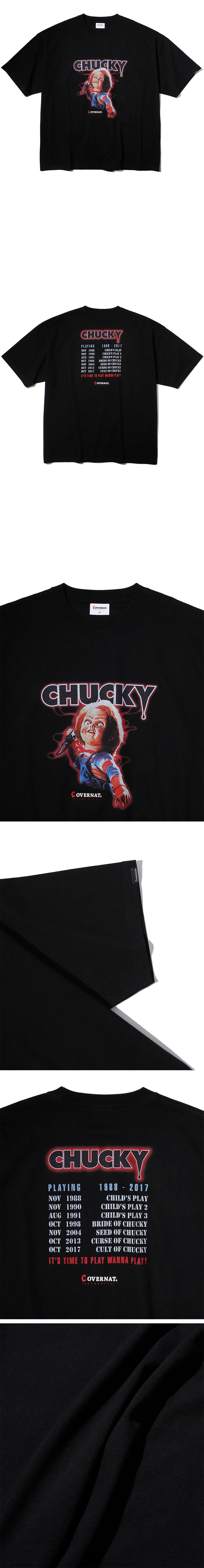 커버낫(COVERNAT) COVERNAT X CHUCKY ENDING CREDIT TEE BLACK