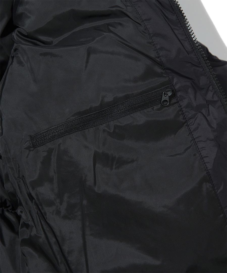 커버낫(COVERNAT) 20FW RDS 덕다운 숏 패딩 점퍼 블랙