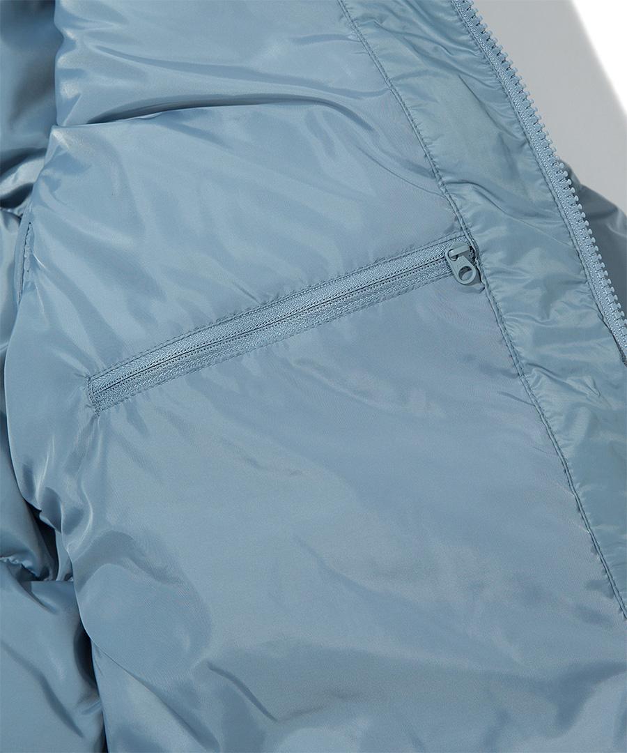 커버낫(COVERNAT) 20FW RDS 덕다운 숏 패딩 점퍼 블루