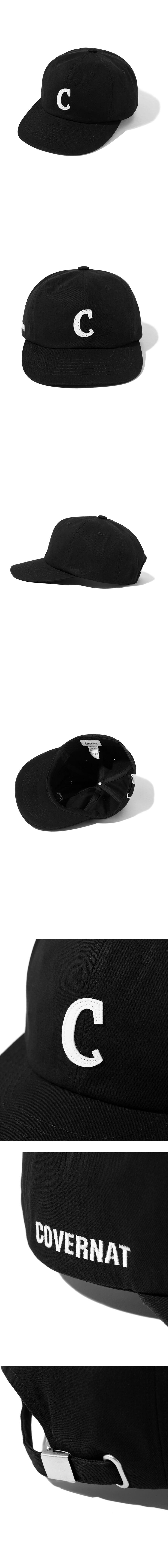 커버낫(COVERNAT) 어센틱 C 로고 B.B캡 블랙