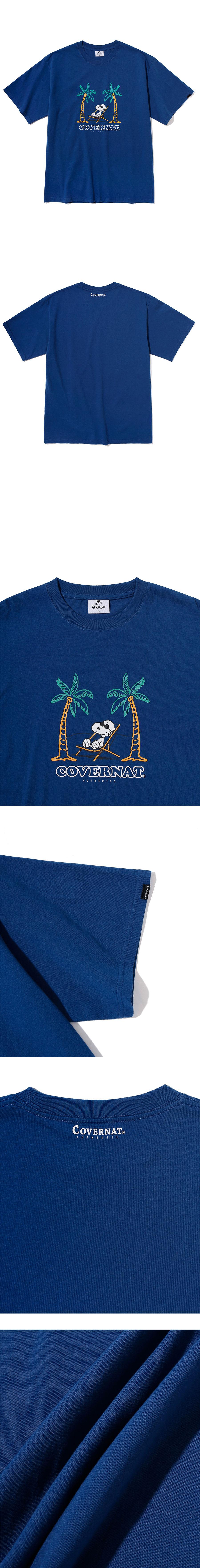 커버낫(COVERNAT) CXPEANUTS 70th YOLO SNOOPY TEE BLUE