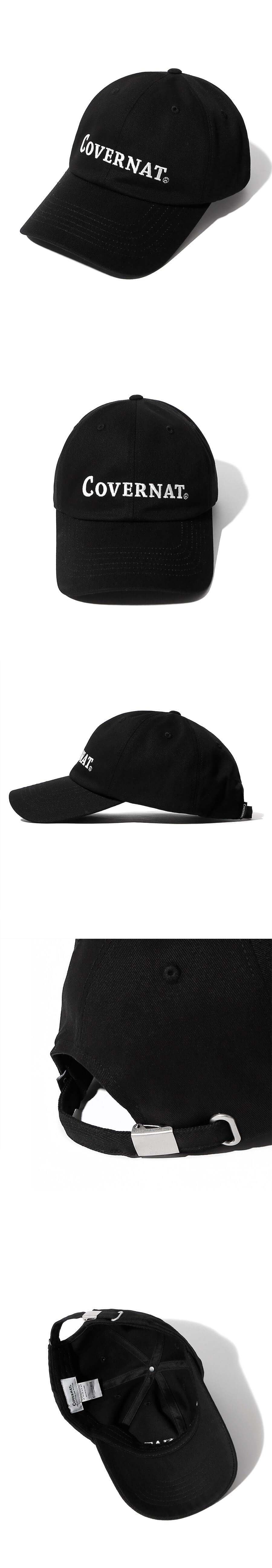 커버낫(COVERNAT) 빅 어센틱 로고 커브캡 블랙