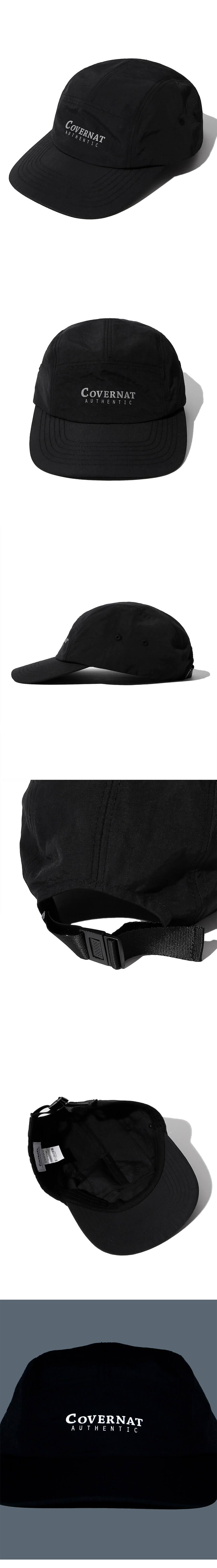 커버낫(COVERNAT) 어센틱 로고 캠프캡 블랙