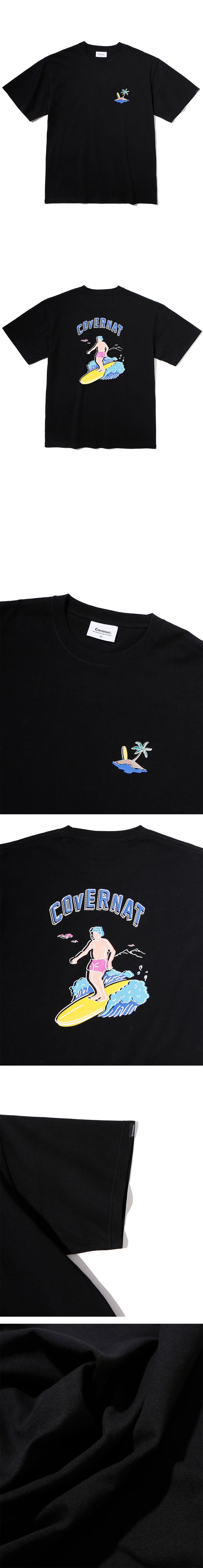 커버낫(COVERNAT) 서퍼맨 티셔츠 블랙