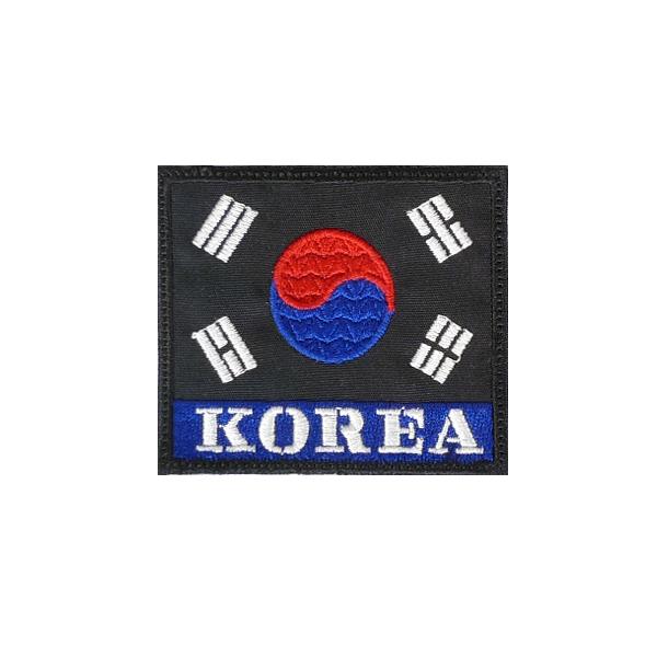 KOREA 벨크로 태극기 검청